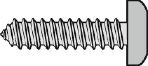 Vis à tôle tête cylindrique empreinte pozidriv acier zingué blanc entièrement filetées en coffret Venan
