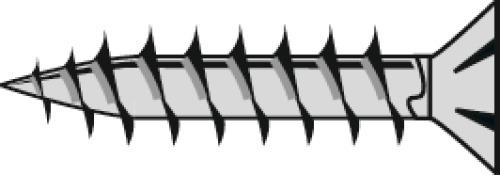Vis de penture empreinte Torx acier zingué entièrement filetées avec chevilles en coffret Wandel