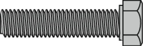 Vis à métaux tête hexagonale acier zingué blanc 8.8 entièrement filetées en coffret Valan
