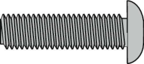 Vis métaux tête ronde large poêlier fendue inox A2